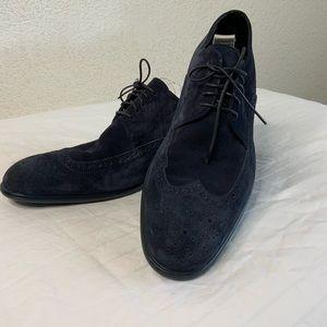 HUGO BOSS Blue Suede Shoes.  Size: US 10